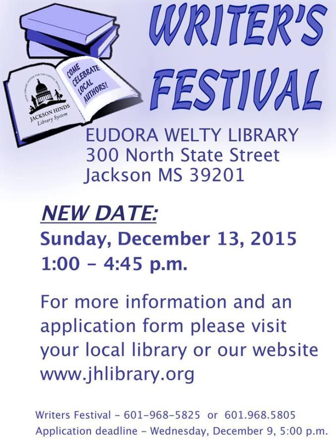 Eudora Welty Library Writer Fest